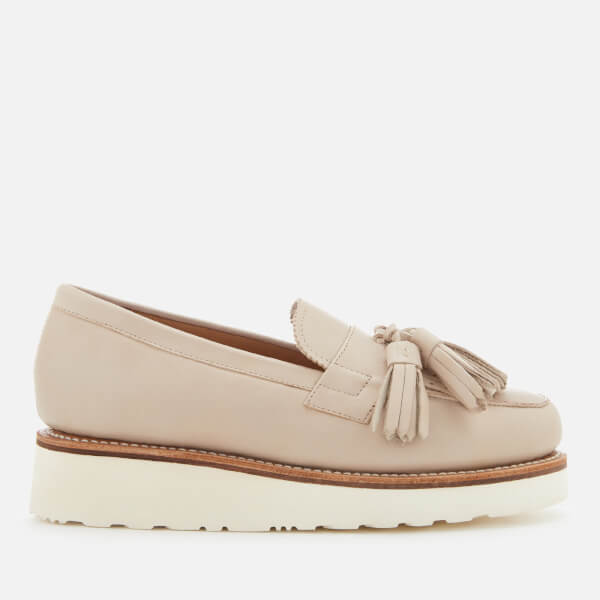 Grenson Women's Clara Leather Tassle Loafers - Natural