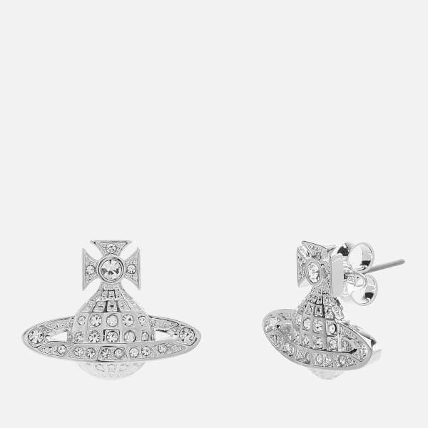 Vivienne Westwood Women's Minnie Bas Relief Earrings - White Crystal