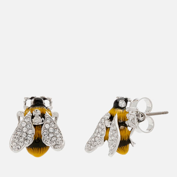 Vivienne Westwood Women's Bumble Earrings - White Crystal/Black