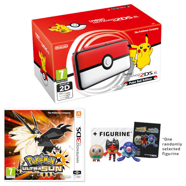 New Nintendo 2DS XL Poké Ball Edition + Pokémon Ultra Sun Pack