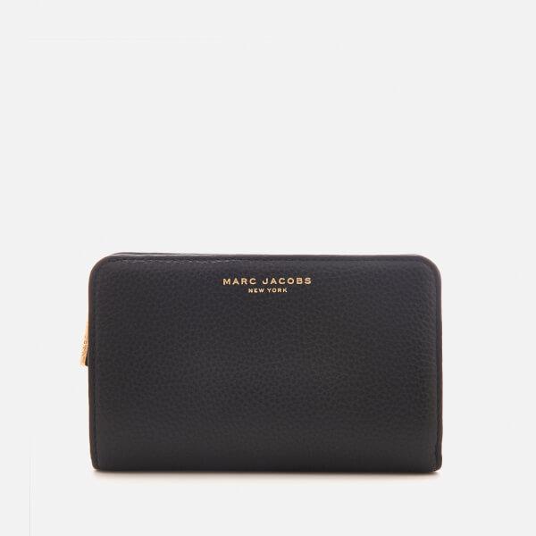 Marc Jacobs Women's Compact Wallet - Black/Gold