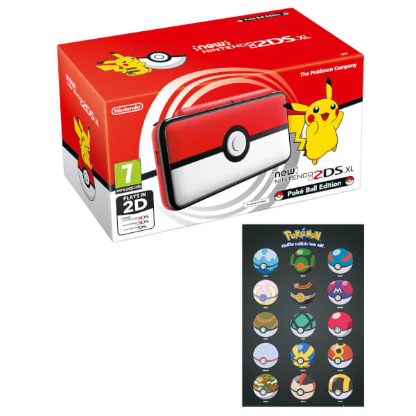 New Nintendo 2DS XL Poké Ball Edition + Poké Ball Poster