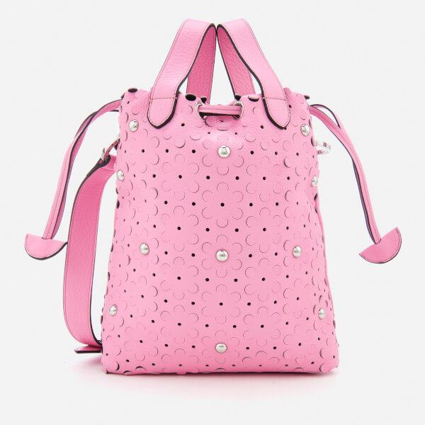 meli melo Women's Hazel Daisy Laser Cut Bag - Peony Pink