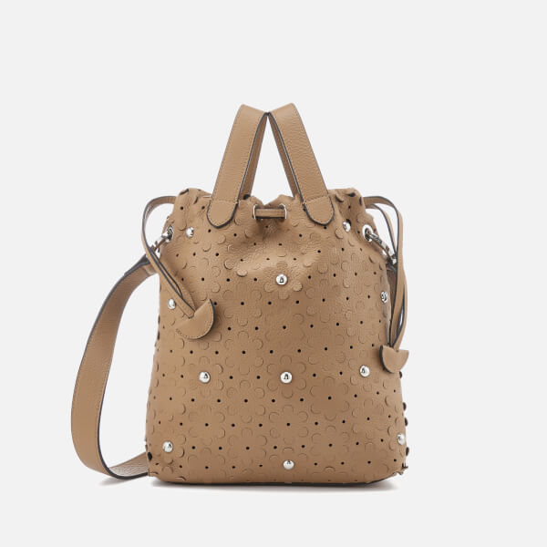 meli melo Women's Hazel Daisy Laser Cut Bag - Light Tan