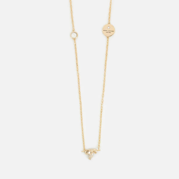 Marc Jacobs Women's MJ Coin Bow Long Necklace - Gold