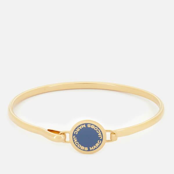 Marc Jacobs Women's Logo Disc Hinge Bracelet - Vintage Blue