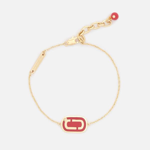 Marc Jacobs Women's Double J Enamel Bracelet - Bright Cardinal