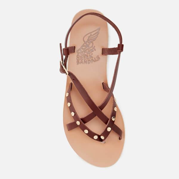 Ancient Greek Sandals Women's Semele Nails Sandals - Chestnut - UK 3 KTK4Bhy