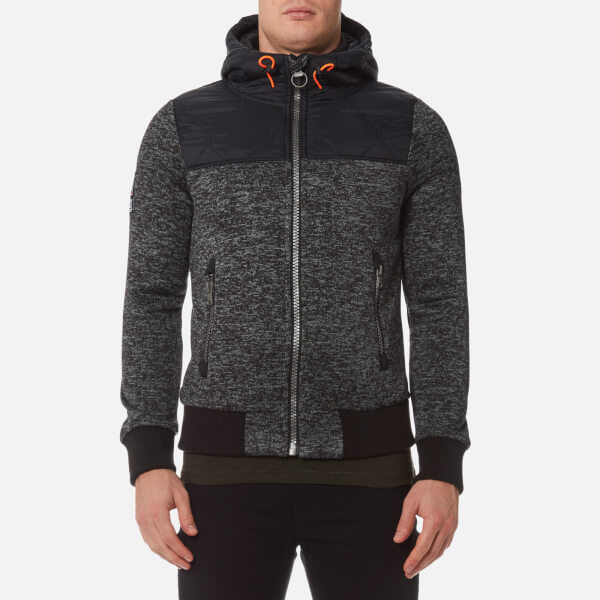 Superdry Men's Storm Mountain Hybrid Zip Hoody - Black/Grey Grit: Image 1