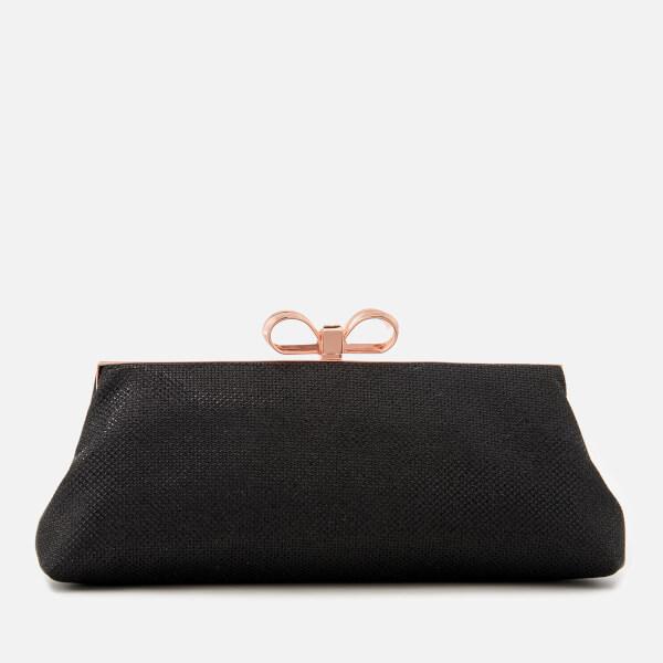 Ted Baker Women's Glitter Bow Evening Bag - Black