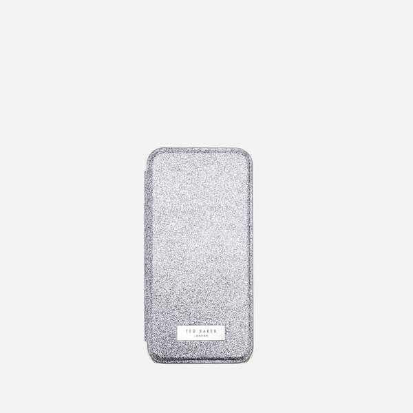 Ted Baker Women's Glitter iPhone Mirror Case - Silver