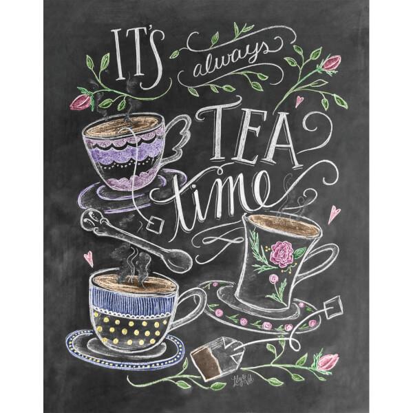 Lily & Val Tea Time Art Print