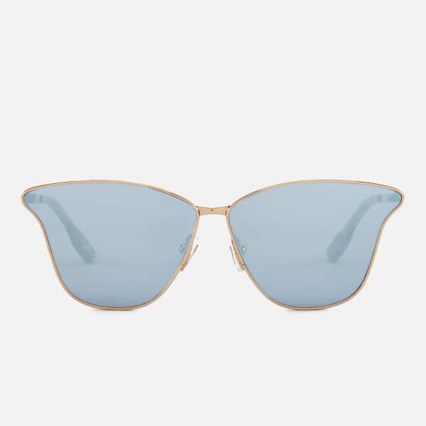 McQ Alexander McQueen Women's Metal Catseye Sunglasses - Gold/Gold/Light Blue