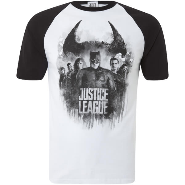 DC Comics Men's Justice Group Logo T-Shirt - White