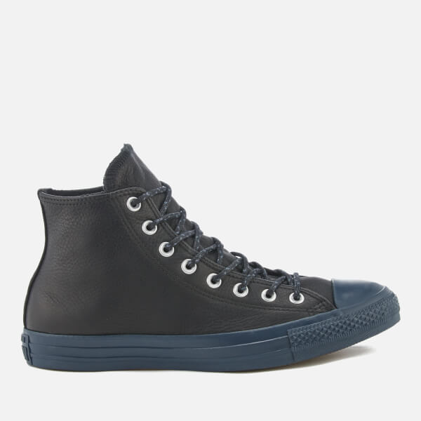 Converse Chuck Taylor All Star Hi Black Sharkskin Mens Leather Hi Top Trainers