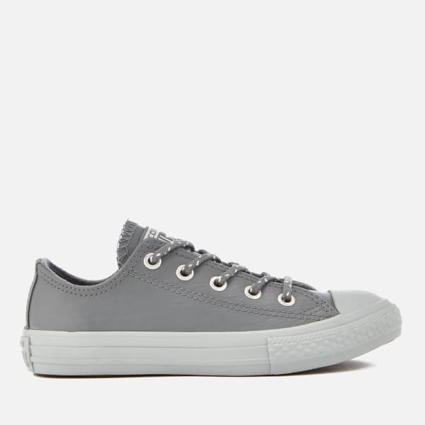 Converse Kids' Chuck Taylor All Star Ox Trainers - Cool Grey/Pure Platinum
