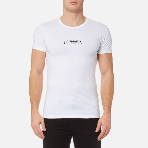 f9fb8d44 Emporio Armani Men's 2 Pack Cotton Stretch Crew Neck T-Shirt - Bianco: Image