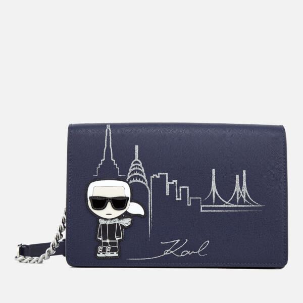 Karl Lagerfeld Women's NYC Shoulder Bag - Navy