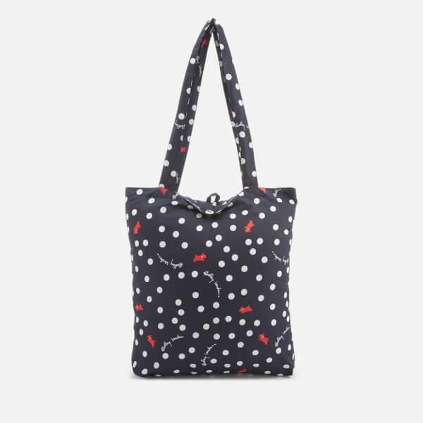 Radley Women's Vintage Dog Dot (Run On) Foldaway Tote Bag - Ink