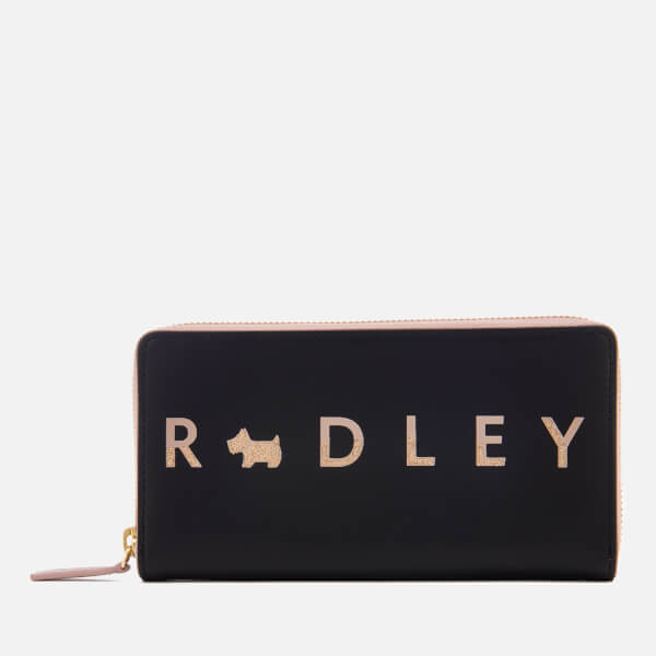 Radley Women's All That Glitters Large Zip Around Matinee Purse - Black