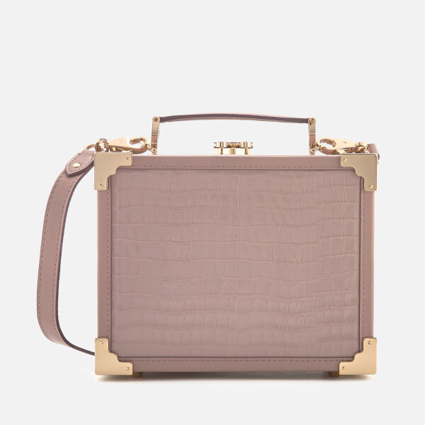 Aspinal of London Women's Mini Trunk Bag - Lilac