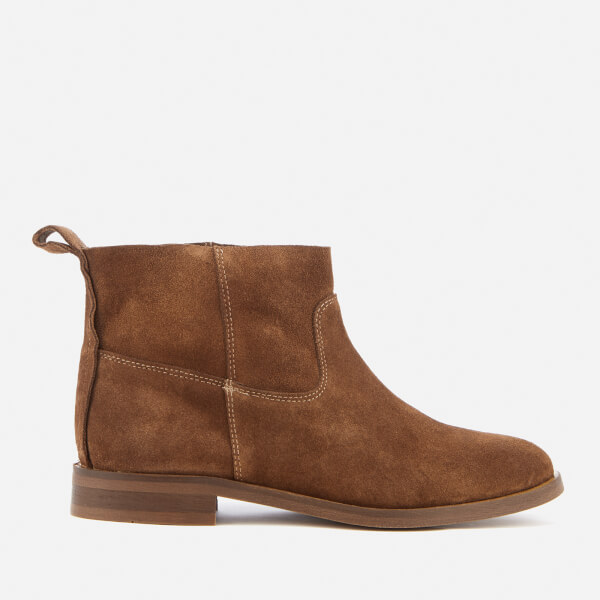 Hudson London Women's Odina Suede Flat Boots - Tan