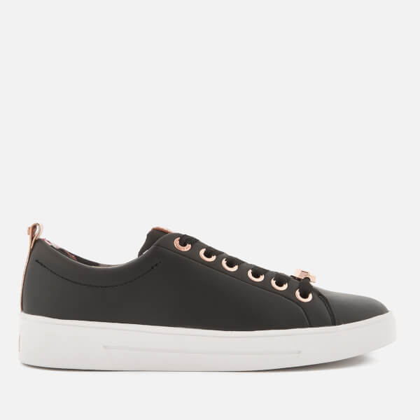 c76d3bc027f960 Ted Baker Women s Kellei Leather Cupsole Trainers - Black  Image 1