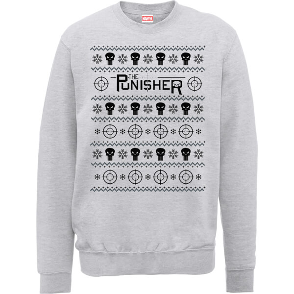 Marvel The Punisher Grey Christmas Sweatshirt