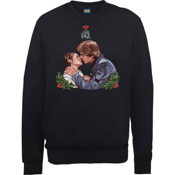 Star Wars Mistletoe Kiss Black Christmas Sweatshirt