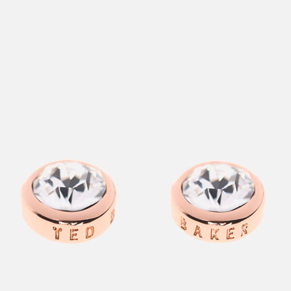 dac134a79 Ted Baker Women's Sinaa Swarovski Crystal Stud Earrings - Rose Gold/Crystal  - Silver: