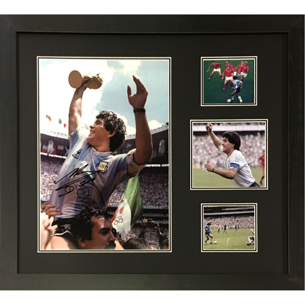 Diego Maradona Signed and Framed 16 x 12 Image