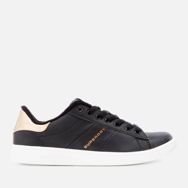Superdry Women's Harper Trainers - Black/Rose Gold