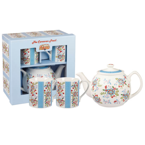 Caravan Trail Hippie Floral Tea For Two Gift Set