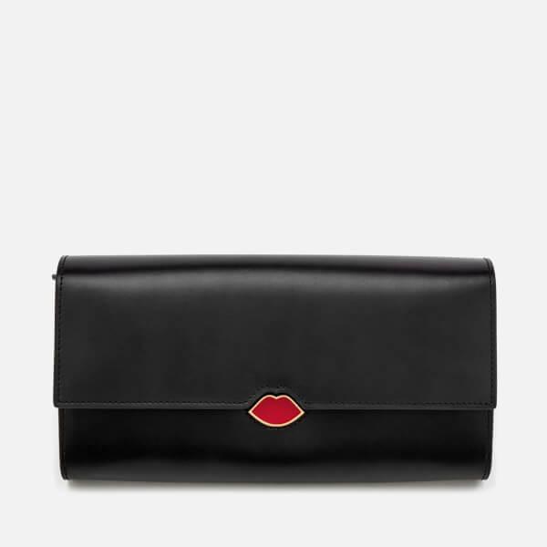 Lulu Guinness Women's Lip Cut Out Trinity Wallet - Black