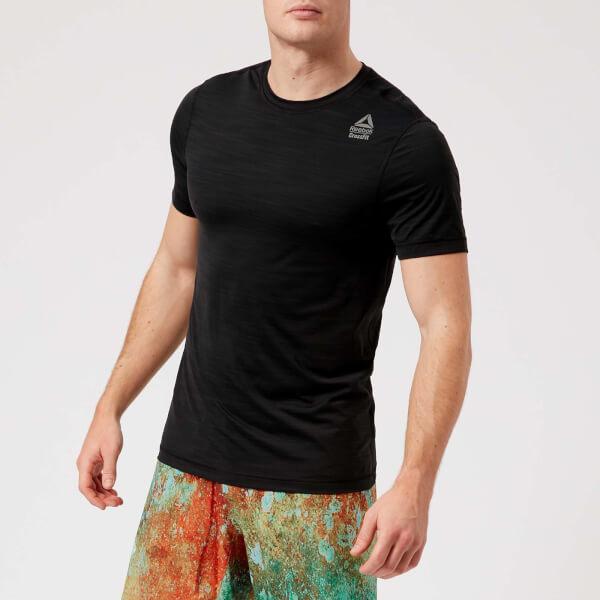 Reebok Men s Cross Fit Activchill Vent Short Sleeve T-Shirt - Black  Image 1 5682ad8ab9f