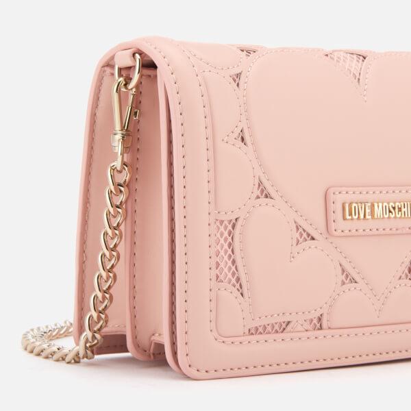 47c896ce5c Love Moschino Women's Small Heart Embossed Cross Body Bag - Pink: Image 4
