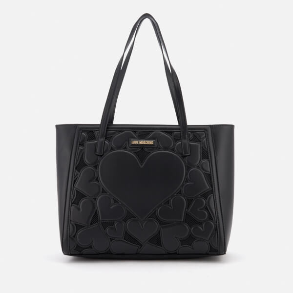 Love Moschino Women's Heart Embossed Tote Bag - Black