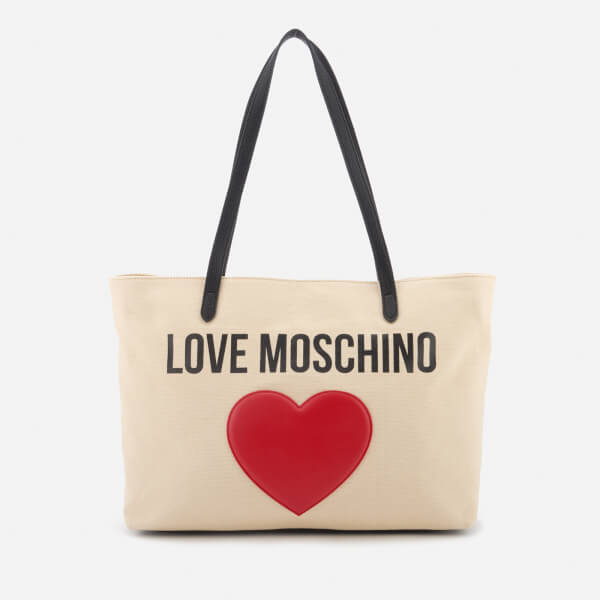 Love Moschino Women's Heart Logo Tote Bag - White