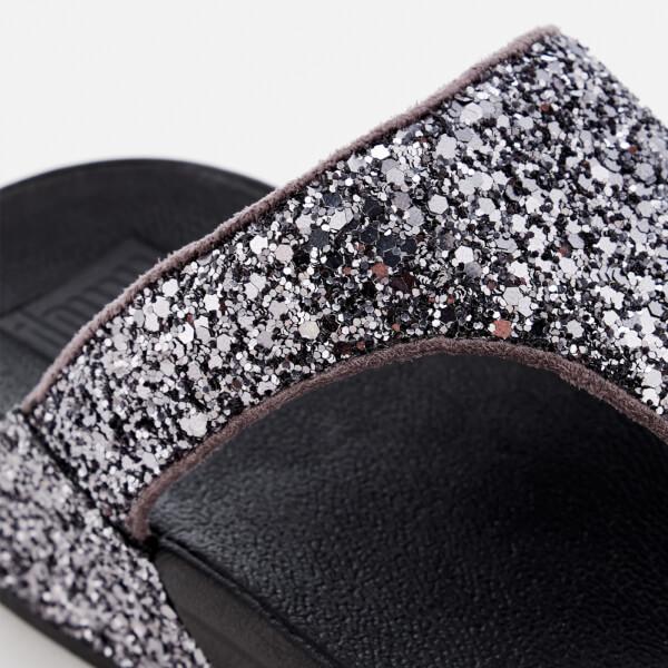 657d9da3258efc FitFlop Women s Glitterball Toe Post Sandals - Pewter  Image 4