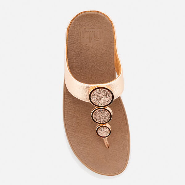 1de7d249bc9a5 FitFlop Women s Halo Toe Post Sandals - Rose Gold  Image 3