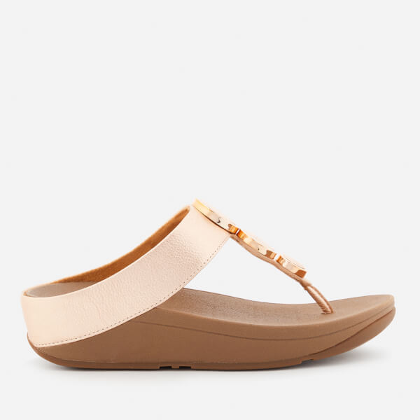 5b9993256506c FitFlop Women s Halo Toe Post Sandals - Rose Gold  Image 1