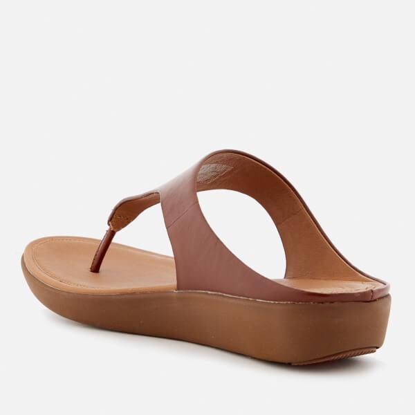 48f45f5d35ef05 FitFlop Women s Banda II Leather Toe Post Sandals - Cognac  Image 2