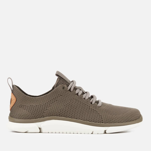 Clarks Men's Triken Run Mesh Trainers - Sage