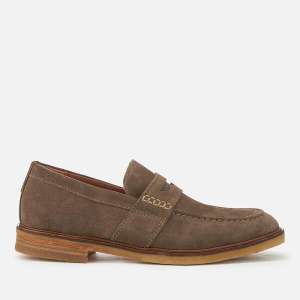 Clarks Men's Clarkdale Flow Suede Loafers - Olive