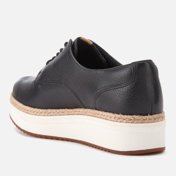 b7c9f7ef509 Clarks Women's Teadale Rhea Leather Flatform Oxford Shoes - Black: Image 4