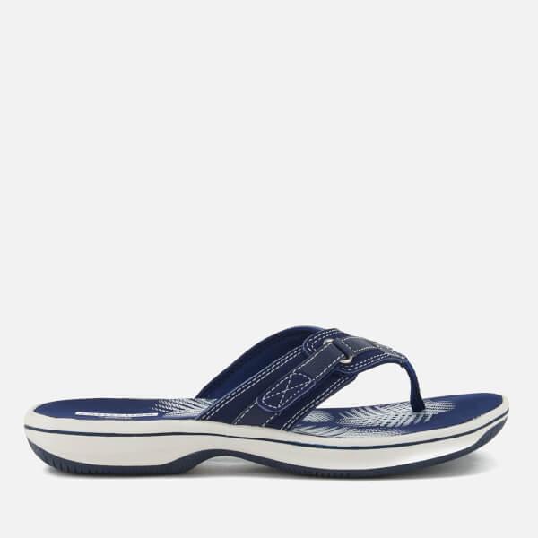 Clarks Women's Brinkley Sea Toe Post Sandals - Navy