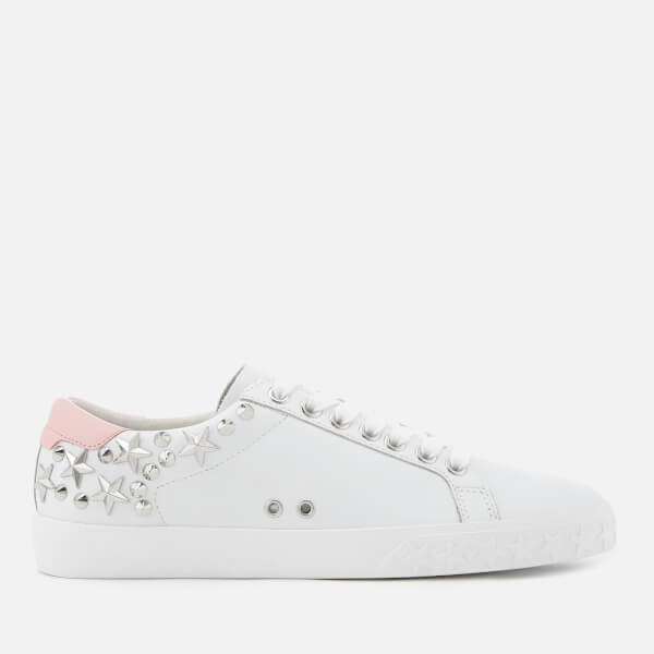 Ash Women's Dazed Leather Low Top Trainers - White/Powder