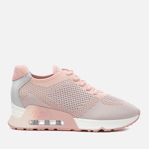 Ash Women's Lucky Knitted Runner Trainers - Nude Pearl