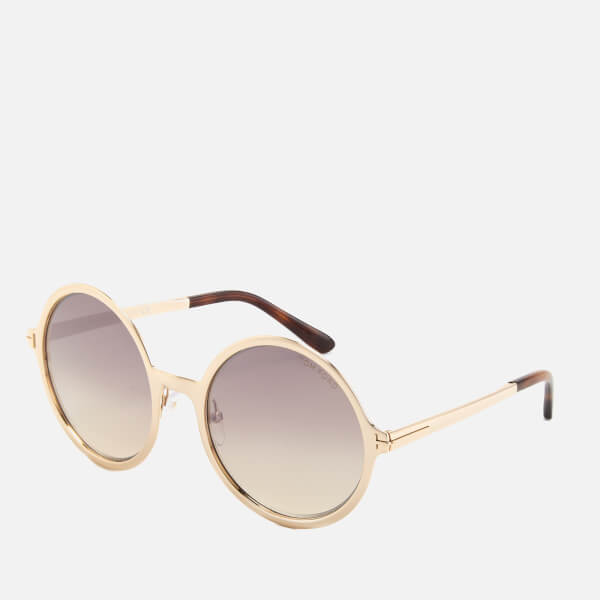 Tom Ford Women S Ava Round Frame Sunglasses Rose Gold