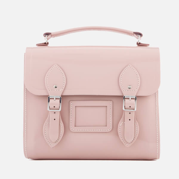 The Cambridge Satchel Company Women's Barrel Backpack - Peach Pink Patent